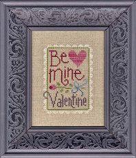Cross stitch pattern Lizzie Kate Be My Valentine on Etsy