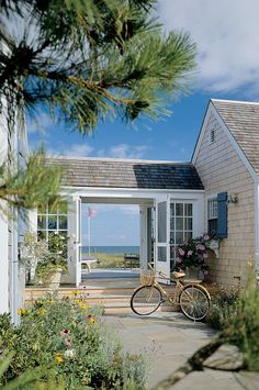 Outdoor Living - Hutker Architects Beach Cottage Style, Coastal Cottage, Coastal Homes, Beach House Decor, Coastal Living, Beach Homes, Coastal Style, Nantucket Cottage, Maine Cottage