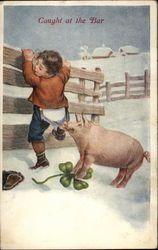 Vintage pig postcards!