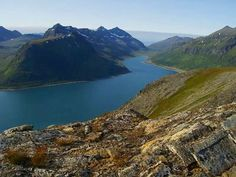 Fjords In Norway.  I hope to go to this area of the world one day.