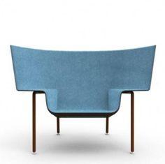 Blue armchair . minimal design | armchair . Sessel . fauteuil | Design: Doshi Levien |