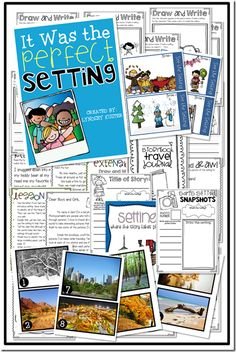 activities for teaching the setting in a story!