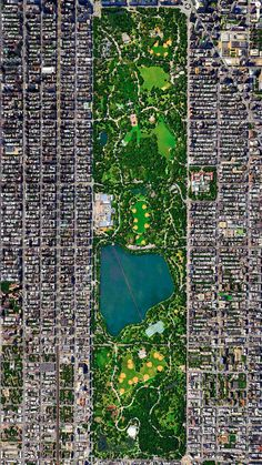 Central Park, New York City, New York, USA. http://www.yatzer.com/daily-overview