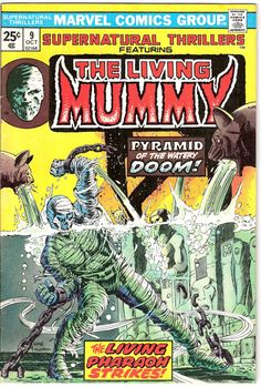 Supernatural Thrillers 9 Marvel Comics The Living Mummy Monster Tales of Horror Fear Terror Scary Creepy Nightmare 1974 FN+ by LifeofComics #comicbook #halloween