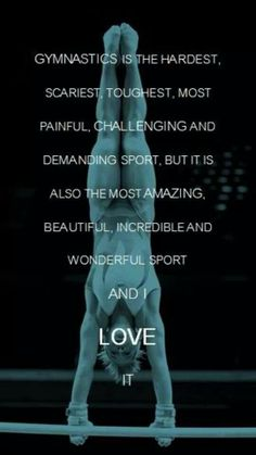 Gymnastics is an amazing beautiful sport but it is by far one, if not the hardest sport of all! I💗 gymnastics! All About Gymnastics, Gymnastics Poses, Gymnastics Coaching, Amazing Gymnastics, Gymnastics Workout, Gymnastics Pictures, Gymnastics Girls, Olympic Gymnastics, Olympic Games