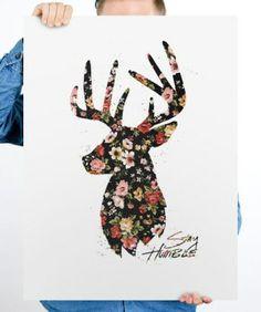 help ink deer poster via designwellspent.com