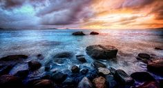 I was here on the rocky coast (Savannah Beach) all alone when I took this photo, and I had an idea for a photo plus processing… it turned out to be much more painstaking than I originally thought, but I learned a few things along the way…   - Virgin Gorda, California  - Photo from #treyratcliff Trey Ratcliff at http://www.StuckInCustoms.com