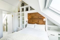 The Chapel conversion by Evolution Design - CAANdesign Small Loft Bedroom, Bedroom Storage, Small Bedrooms, Master Bedroom, Built In Bed, Built Ins, Attic Spaces, Small Spaces, Evolution Design