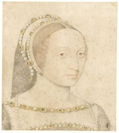 1530s (estimated) - Marie de Langeac, femme de Jean sire de Lestrange (1508-1588) - by Jean Clouet