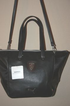PUMA-Ferrari-LS-Hand-Bag-Purse-NEW-STYLE-07314701-BLACK-10TH-ANNIVERSARY