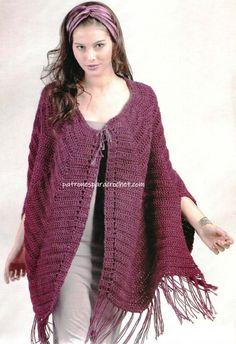 Album Archive - Tejer la moda nº 118 Crochet Scarf Tutorial, Crochet Shawl, Crochet Stitches, Knit Crochet, Crochet Edging Patterns, Crochet Squares, Estilo Boho, Crochet Clothes, Boho Fashion
