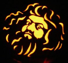 Pin for Later: Harry Potter Halloween: Check Out These Potter-Inspired Pumpkins!  Hagrid's curly locks look great all lit up.