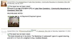 A pickup! After paying its respects to the late Raymond Chapman, a book found its way to the Bookshop in Lakewood, Ohio. Lakewood Ohio, Ohio Usa, Journal Entries, Bedtime Stories, Lake View, To Tell, Free Books, The Book