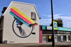 Wall paints, Muurschilderingen, Peintures Murales,Trompe-l'oeil, Graffiti, Murals, Street art.: Heerlen - Netherlands Super A