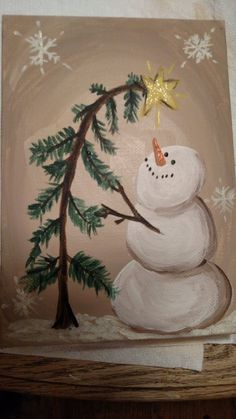 Snowman Image painted on canvas . - Snowman Image painted on canvas … Snowman Image painted on canvas … Christmas Rock, Christmas Signs, Christmas Projects, Holiday Crafts, Christmas Decorations, Christmas Ornaments, Xmas, Christmas Games, Christmas Wreaths