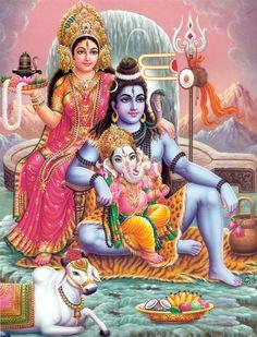 Shiva and Parvati with Ganesha Artist: C.Vishnu (via Dolls of India)