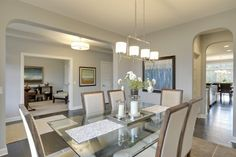 Dining Room New Home Floor Plans, Home Designs | Chandler | Homes by Tradition