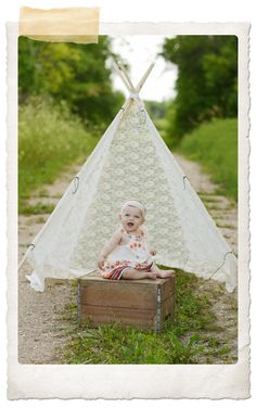 This photo is beautiful! I love the lace tipi!  BOHO Baby » Tricia Dewar Photography
