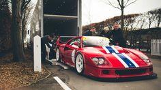 Unloading a Ferrari F40 LM is a careful process | DRIVETRIBE