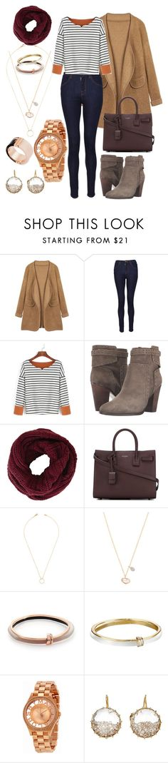 """""""Winter Casual"""" by kendra-robles-gonzalez ❤ liked on Polyvore featuring J Brand, Vince Camuto, BCBGMAXAZRIA, Yves Saint Laurent, Jeweliq, Meira T, Alexis Bittar, Marc by Marc Jacobs, Renee Lewis and Michael Kors"""
