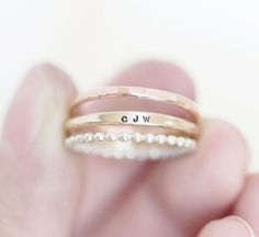 11 Ideas for Personal Wedding Bands via Brit + Co  Dream ring situation