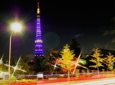 Purple Light Up - Tokyo Tower by Hiro Nakajima on 500px