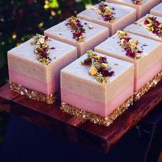Pistachio, Rose + Vanilla.