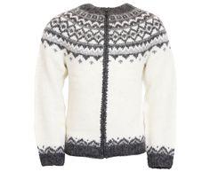501f174253 Skjöldur Icelandic Wool hand knitted Jumper with Zipper Wool Sweaters