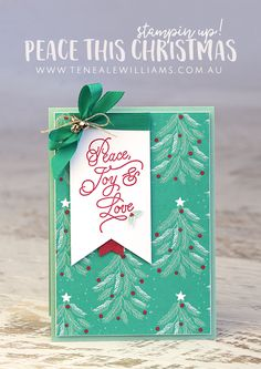 by teneale williams stampin up peace this christmas stamp set and presents
