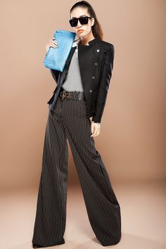 autumn spring winter new style fashion formal career womens striped wide leg pants female slim high waist trousers for women-inPants & Capris from Apparel & Accessories on Aliexpress.com