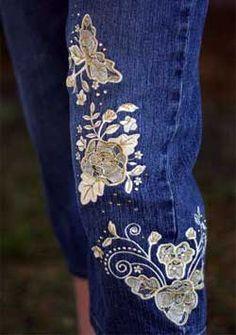 Re-embroidered Nashville Lace Denim