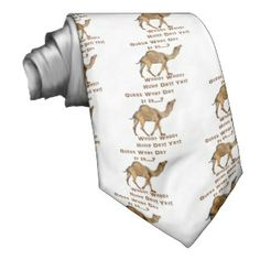 Its Hump Day Necktie Customizable Gifts, Neck Ties, Custom Ties, For Everyone, Personalized Gifts, First Love, Fabric, Pattern, Tie Dye Outfits