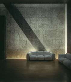 Interior view of Tadao Ando's Koshino House. Mastering the Light.