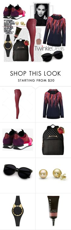 """""""Paint Drip Drawstring Hoodie"""" by love-blair-serena ❤ liked on Polyvore featuring Balenciaga, Betsey Johnson, Kate Spade, Becca, tenoverten, modern, funny and cool"""