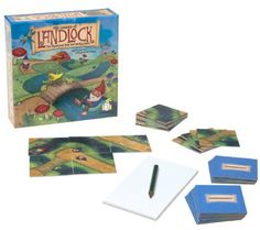 Amazon.com: Gamewright the Legend of Landlock, the Mythical Map Strategy Game: Toys & Games