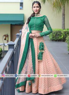 Net Lehenga, Lehenga Choli Online, Indian Lehenga, Silk Saree Blouse Designs, Lehenga Designs, Purple Lace, Pink Silk, Red Pleated Skirt, Party Wear Lehenga