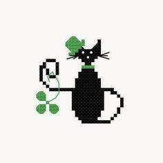 Le bonheur est le point de croix: Mini Cat Point de Croix Freebies