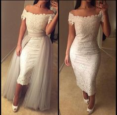 Cheap dress formal dress, Buy Quality dress up time prom dresses directly from China dress robe Suppliers: vestidos de noche cortos high low dress detachable prom dresses lace white short prom dresses arabic evening gowns dresses Lace Homecoming Dresses, Lace Evening Dresses, Bridal Dresses, Wedding Gowns, Dress Lace, Dress Prom, Lace Wedding, Dress Formal, Evening Gowns