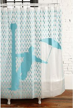Singin' in the Rain shower curtain. (I actually have this in my bathroom now and it is so fun and happy and only $13 on Amazon.com! ;-)