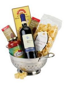 Pasta and Wine Gift Basket