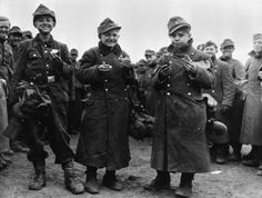 Three 14 year old German prisoners 19 March 1945 captured by the 6th Armored Div. bear Frankfurt-am-main