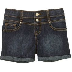 LEI Girls' High Rise Denim Shorts, Size: 5, Gray