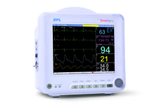 BPL SmartSign S8 comes with an 8 inch Color Touch TFT Display.  Supports up to 10 waveforms. It monitors patient parameters such as ECG, RESP, SpO, NiBP, body temperature and pulse rate and Masimo SpO2 Sensor