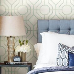 Candice Olson Lanai Trellis L x W Wallpaper Roll Trellis Wallpaper, Wallpaper Panels, Modern Wallpaper, Wallpaper Roll, Candice Olson, Design Repeats, Traditional Wallpaper, Lanai, Decorative Pillows