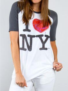 I Heart New York Short Sleeve Raglan
