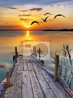Full Square/Round drill DIY Diamond painting Sunrise by the wharf Diamond Embroidery Mosaic scenery Cross Stitch Rhinestone decor Cool Pictures, Cool Photos, Beautiful Pictures, Calming Pictures, Beach Photos, Relaxing Images, Beautiful Landscape Pictures, Sunset Photos, Beautiful World