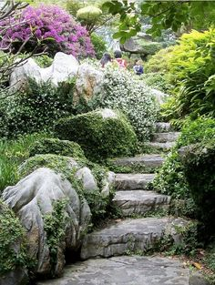 I love stone stairs....stairs, and more stairs....dh