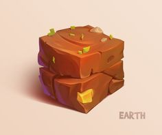 花瓣网-Earth cube by Firrka Bg Design, Game Ui Design, Prop Design, Casual Art, Game Textures, Hand Painted Textures, Game Props, 3d Texture, Game Concept Art
