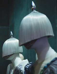 Hairstylist Guido Palau's Most Architectural Designs : Architectural Digest. Wordl of McQueen Met Museum Exhibition.