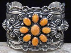 Delbert Gordon Orange Spiny Oyster Cuff